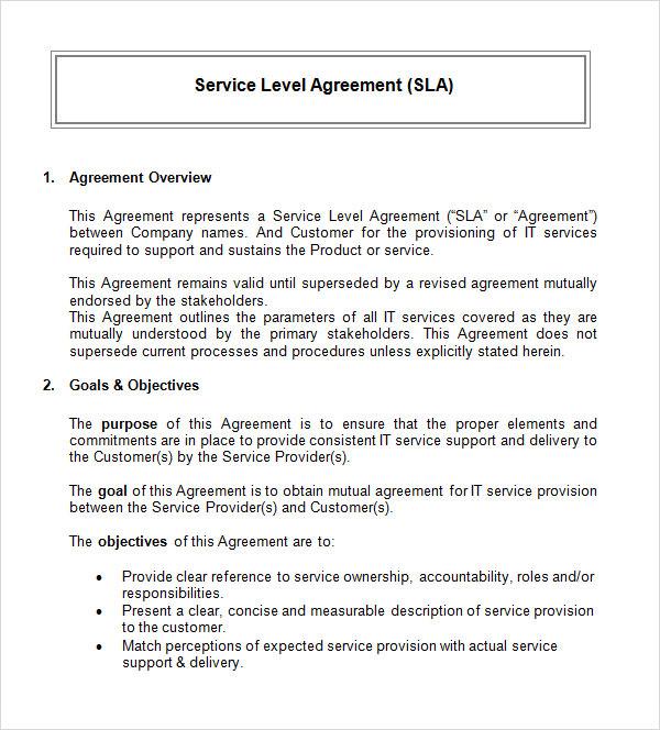 service agreement sample