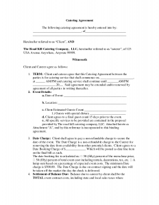 service agreement samples agreement templates nice blank contract agreement form sample for catering with term and event details and date charge