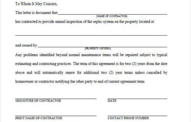 service agreement template maintenance service contract template