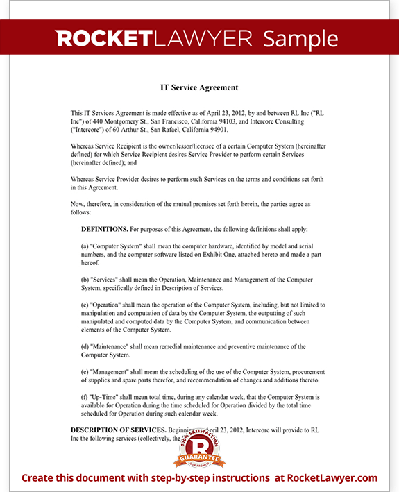 Service Agreement Template | Template Business