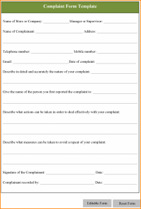 service contract template word complaint forms template complaint form template post x