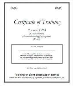service dog certificate pdf trainingcertificatetemplate pdf