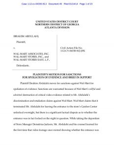 settlement agreement template motion for sanctions against walmart