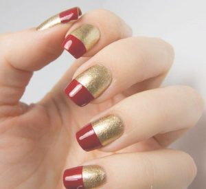 sexy nail designs red and gold nails