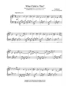 sheet music pdf what child is this