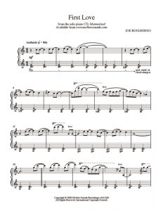 sheet music pdf firstlove