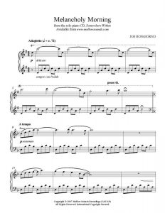 sheet music pdf melancholymorning