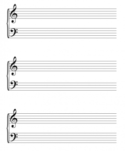 sheet music template piano staff paper