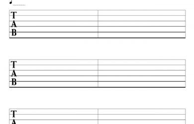 sheet music template c image