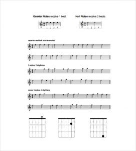 sheet music template guitar music sheet pdf template free download