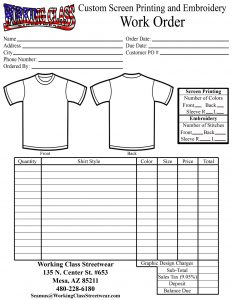 shirt order forms customshirtorderform