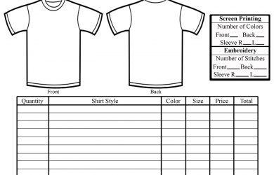 shirt order forms customshirtorderform