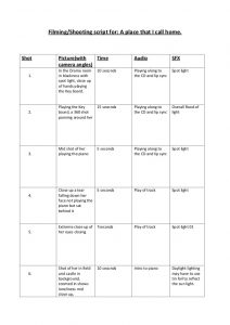 shoot schedule template media shooting script template