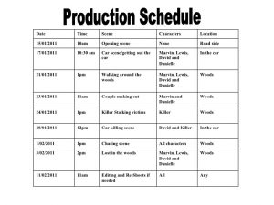 shooting schedule template production schedule