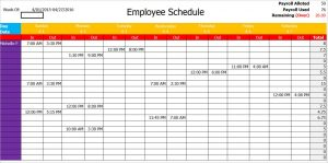 shooting schedule template sample blank schedule template pdf word