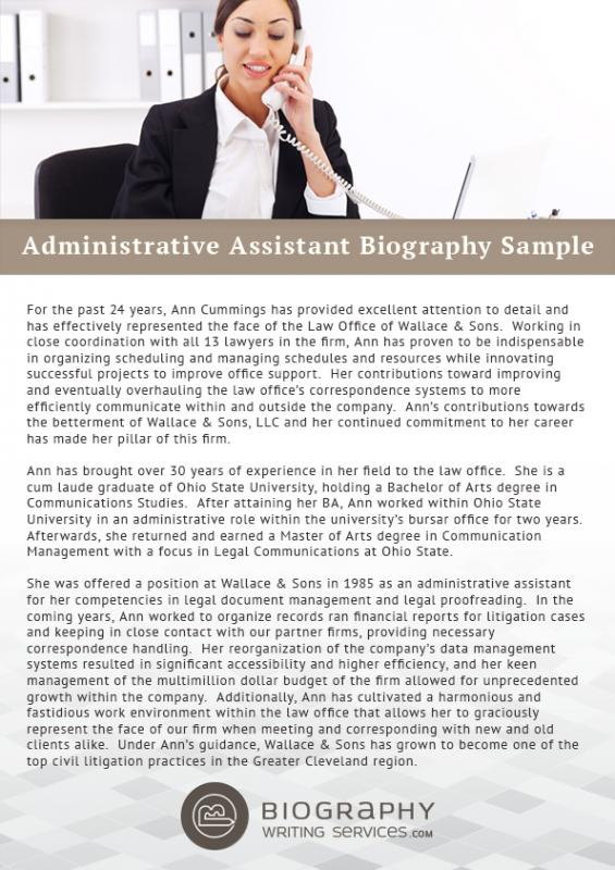 short biography templates