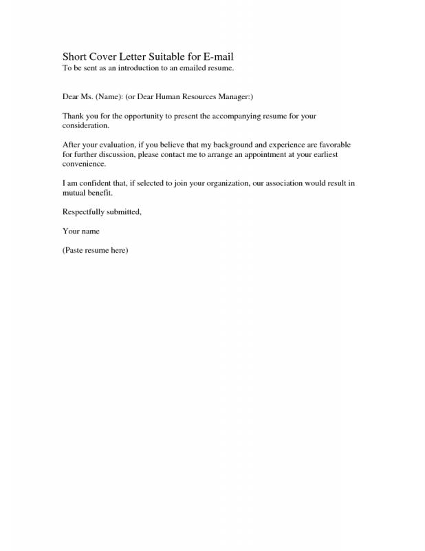 short cover letter