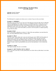Short Cover Letter | Template Business