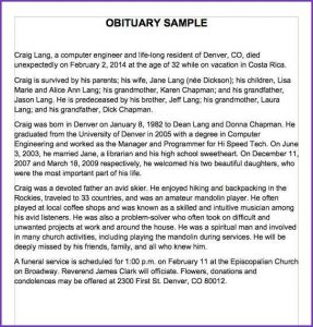 short eulogy examples sample obituary for mom obituary samples word