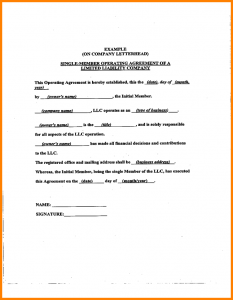 short rental agreement operating agreement samples sample llc operating agreement sample l