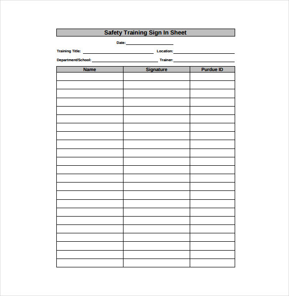 sign in sheet pdf