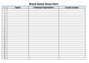 sign in sheet template sign in sheet sample