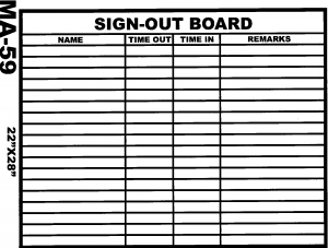 sign out sheet ma