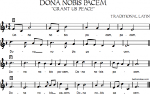 sign up sheet pdf dona nobis pacem