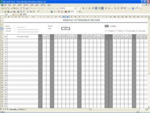 silent auction sheet attendance register template
