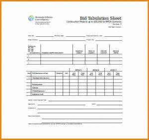 silent auction sheet bid sheet template bid tabulation sheet word template free download