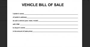simple bill of sale for car screenshot