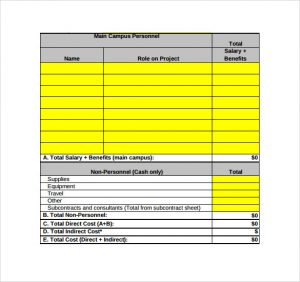 simple budget spreadsheet sample grant budget template