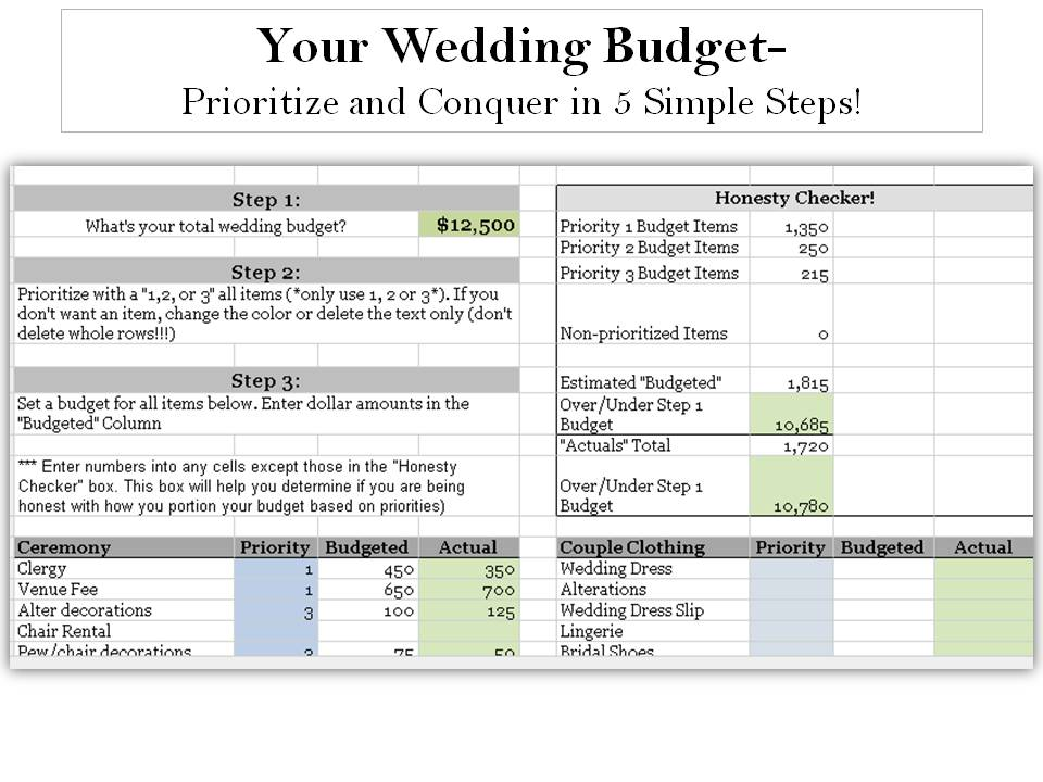simple budget spreadsheets