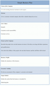 simple business plan example simple business plan template x