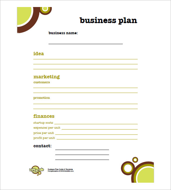 Simple Business Plan Template Business - How to develop a business plan template