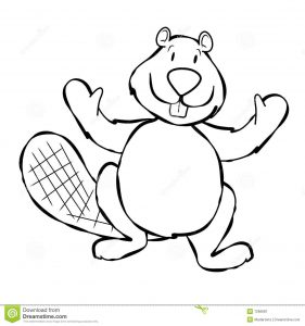 simple business plan outline line art beaver cartoon