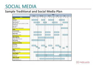 simple business plan outline marrying traditional media and social media strategies to reach students