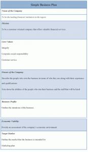 simple business plan simple business plan template x
