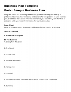 Simple Business Plan Template Business - Business planning templates