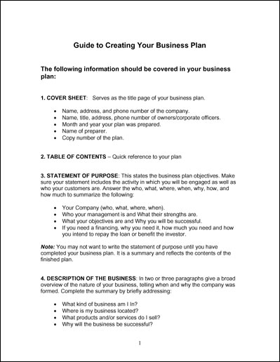Simple Business Plan Template Business - How to create a business plan template