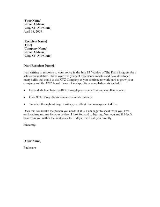 Simple Cover Letter Format. Simple Cover Letter Format Example ...  How To Write A Simple Cover Letter