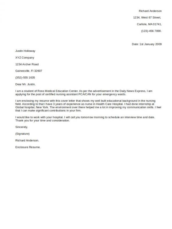 Superior Simple Cover Letter Format  Simple Cover Letter Format