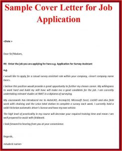 simple cover letter format example of a simple cover letter