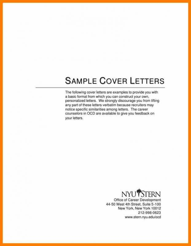 Simple Cover Letter Format  Simple Cover Letter Samples