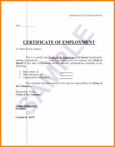 simple cover letter template job certification sample