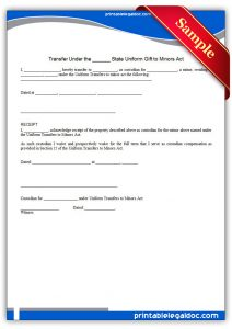 simple employment agreement printable transfer under the state uniform gift to minors act form