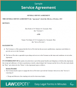 simple employment agreement sample contract for services sample service agreement