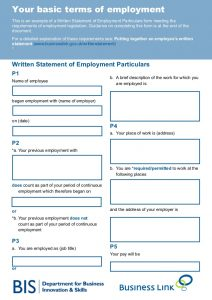 simple employment agreement your basic terms of employment