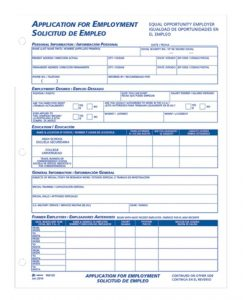 simple employment application es