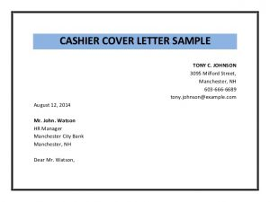 simple employment application cashier cover letter sample pdf